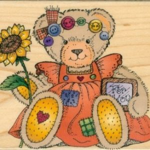 Country Bear with Sunflowers