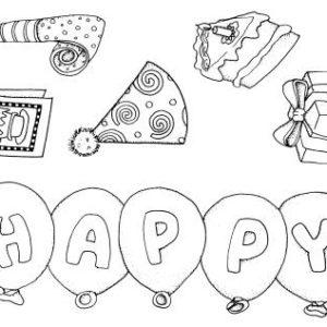 Happy Birthday unmounted