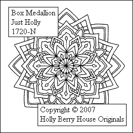 Box Medallion Just Holly incl. Cutting Guide NEU
