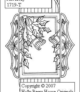 3D Victorian Tresure Box Just Holly inkl. Anleitung NEU