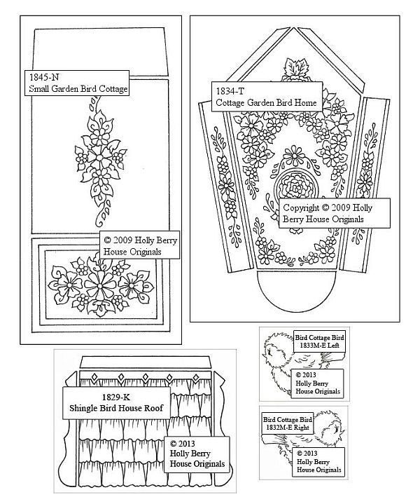 3D Cottage Garden Birdhouse inkl. Anleitung