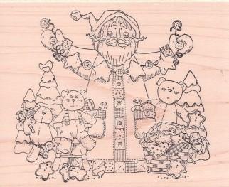 Star Garland Santa
