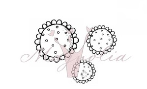 Dotted Shabby Chic Flower