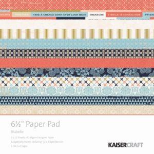 Blu Belle 6x6 Paper Pad