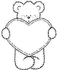 Bear w/ Stitched Heart