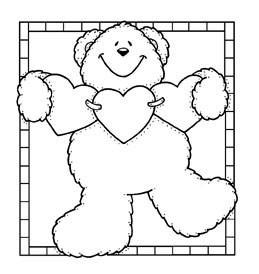 Bear w/ String of Hearts