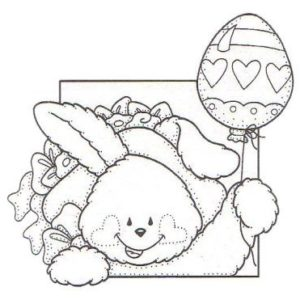 Bunny w/ Egg Balloon