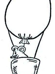 Maus im Ballon