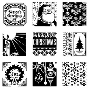 Christmas Inchies inkl. Acrylblock NEU