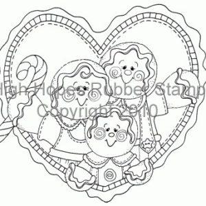 Gingerbread Family Heart