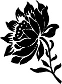 Ornate Solid Flower