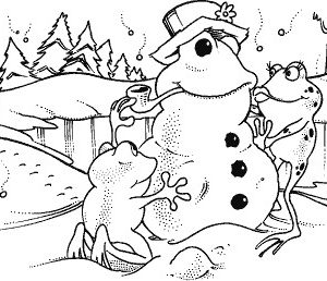 Frankie and Fay Frog Making a Snow Frog NEU