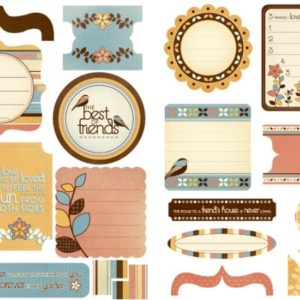 Peachy Keen Die Cut Elements
