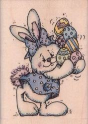 Pretty Polkadot Bunny and Eggs