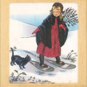 Girl in Snowshoes