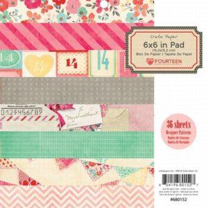 Fourteen 6x6 Paper Pad