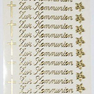 Konturenst. Kommunion - gold