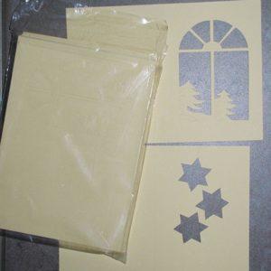Weihnachtskarten mit Fenstern und Sternen, 33Stk.