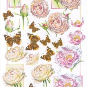 Rosen und Schmetterlinge