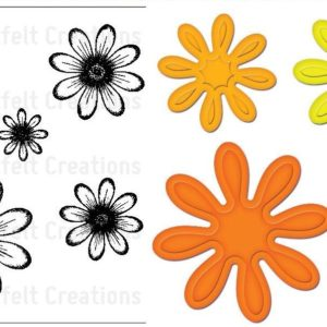 Daisy Patch Flowers + Die