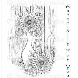 Delicate Aster Vase