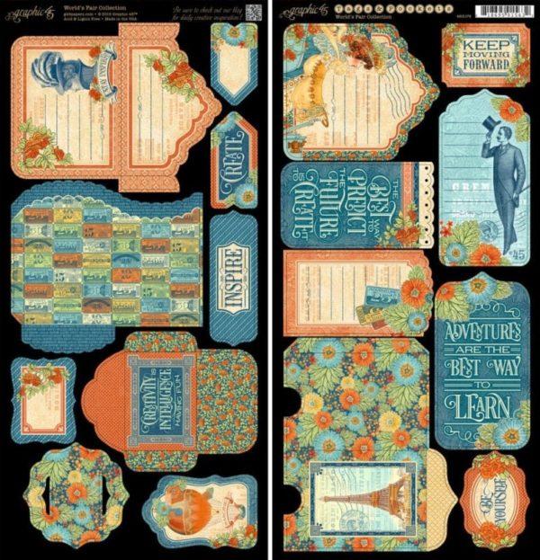 World's Fair Cardstock Die-Cuts - Tags & Pockets