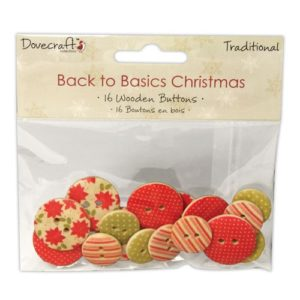 Christmas Traditional Wooden Buttons