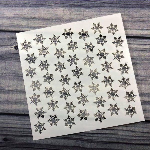 Sparkling Snowflake Stencil