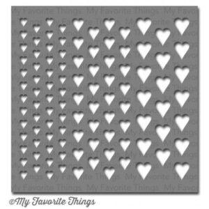 Graduated Hearts Stencil