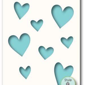 Caring Hearts Stencil