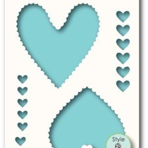 Plush Hearts Stencil