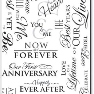 GRATIS - Our Anniversary Clear Sticker