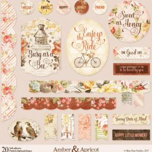 Printed Chipboard - Amber & Apricot
