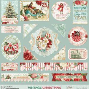 Printed Chipboard - Vintage Christmas