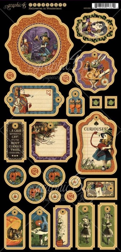 Hallowe'en in Wonderland Chipboard Die-Cuts