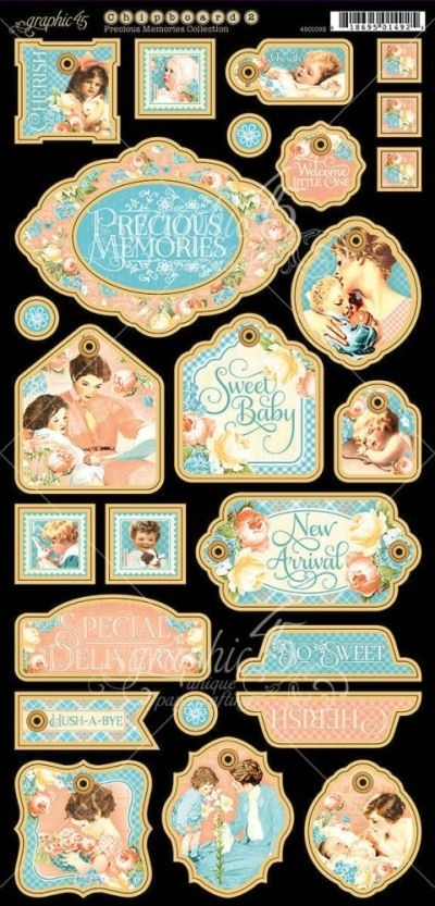 Precious Memories Chipboard Die-Cuts 2