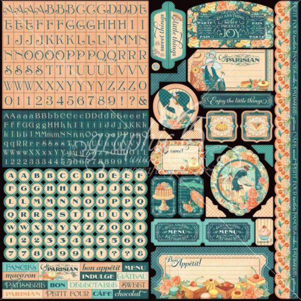 Café Parisian ABC Cardstock Stickers