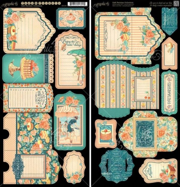 Café Parisian Cardstock Die-Cuts - Tags & Pockets