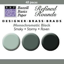 48 Bazzill-Brads Black