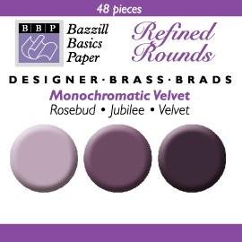 48 Bazzill-Brads Velvet