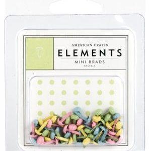 48 Mini Brads Pastels