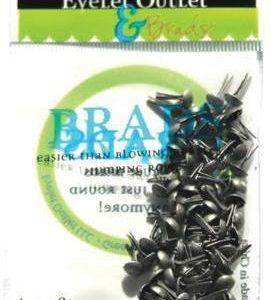 70 Brushed Silver Mini Brads