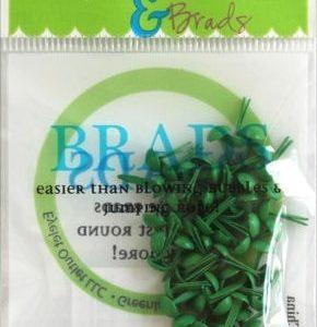 70 Dark Green Mini Brads