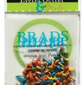 70 Fall Mix Mini Brads