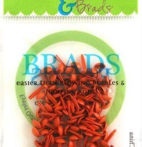 70 Orange Mini Brads