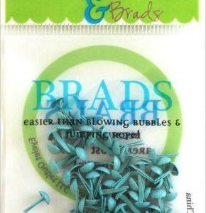 70 Pastel Blue Mini Brads