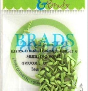 70 Pastel Green Mini Brads