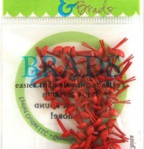 70 Red Mini Brads