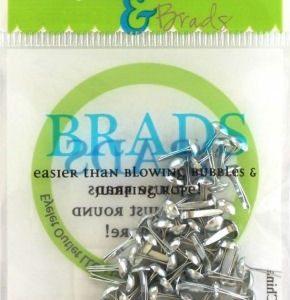 70 Silver Mini Brads