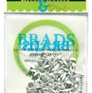 70 White Mini Brads